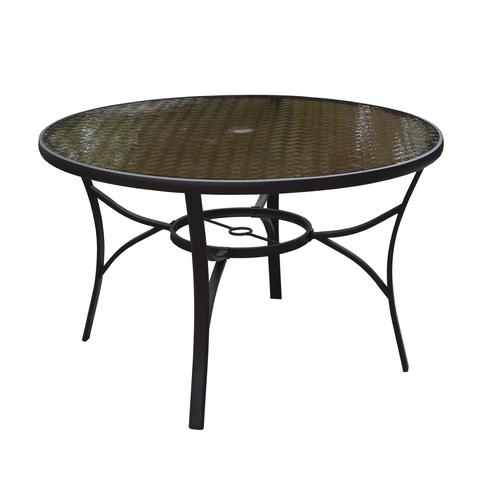 taylor round dining patio table at
