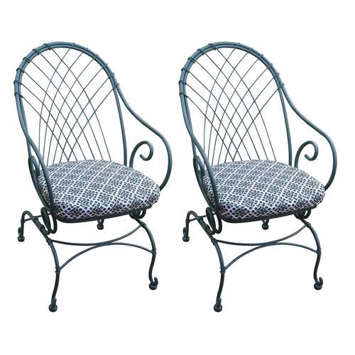melrose spruce bistro patio chair set