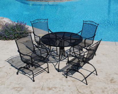 Backyard Creations     Wrought Iron 5 Piece Dining Patio Set at Menards