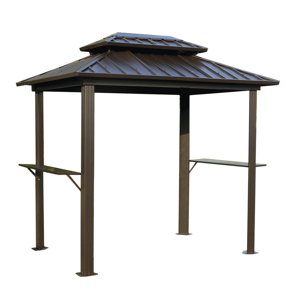 concord steel roof grill gazebo at