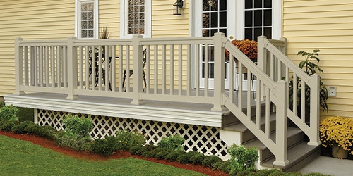 Exterior Railings Gates At Menards®   Outdoor Stair Railing Menards