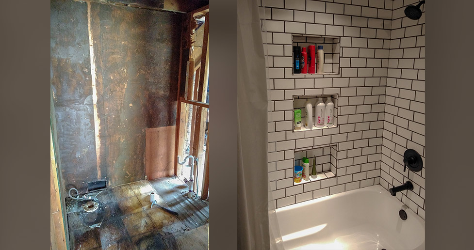 farmhouse bathroom update project by