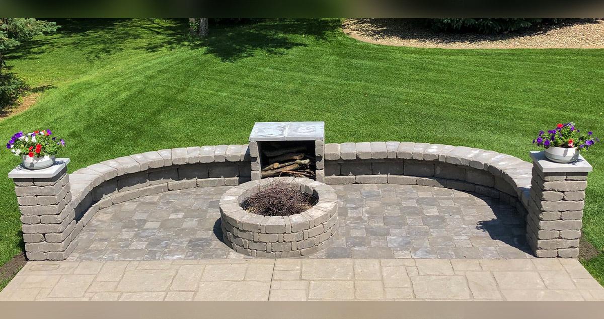 paver fire pit patio extension