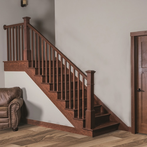 Millwork Staircase Systems Accessories At Menards®   Hardwood Handrails For Stairs   Brown   Outdoor   Stairway   Light Wood   Colour Stair Painted Stair Railing