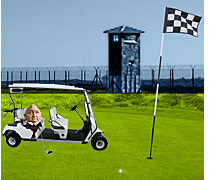 Weinland In 'Club Fed' Prison With Golf Cart