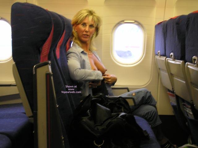 Wife Flashing Tits In Airplane Erect Nipples Flashing Tits Flashing Hard Nipple
