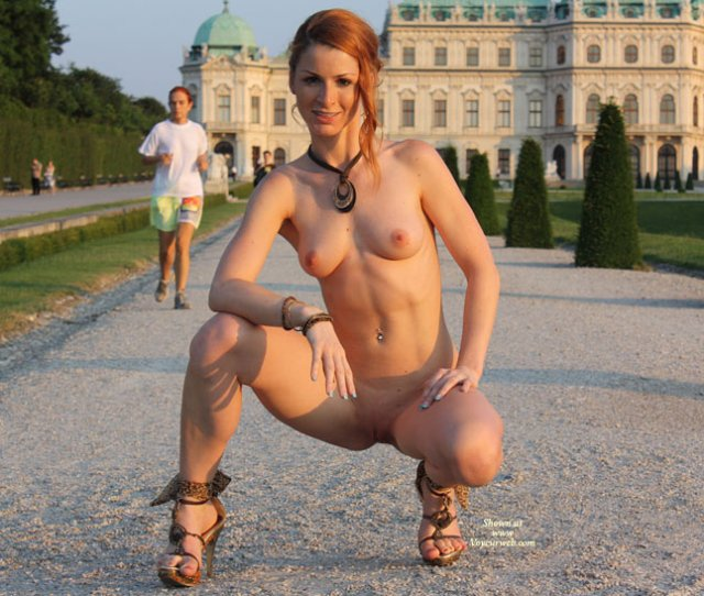 Schloss Schonbrunn Nude Girl Exhibitionist Nude In Public Red Hair Shaved Pussy