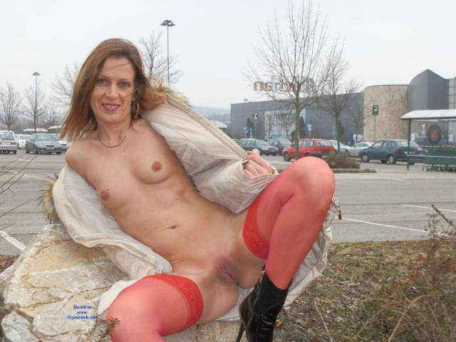 Nude Redhead In Public Wearing Boots Boots Exposed In Public Firm Tits