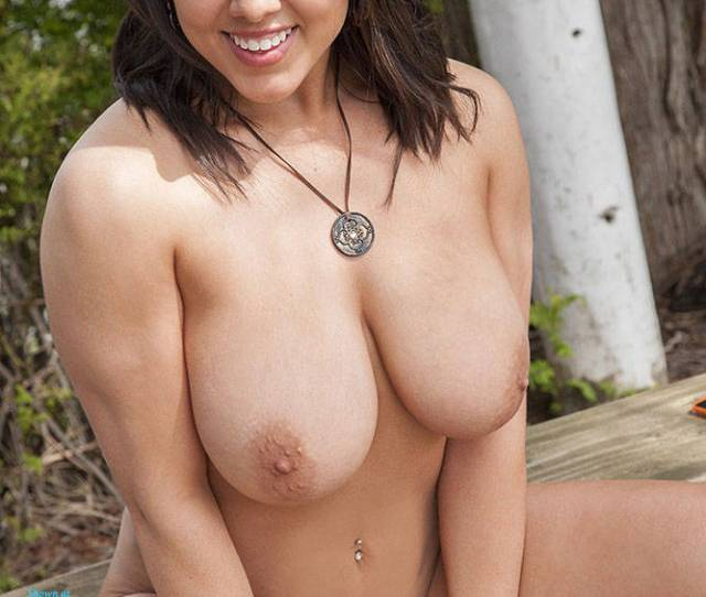 Big Tits Brunette Naked In Outdoor Big Tits Brunette Hair Full Nude