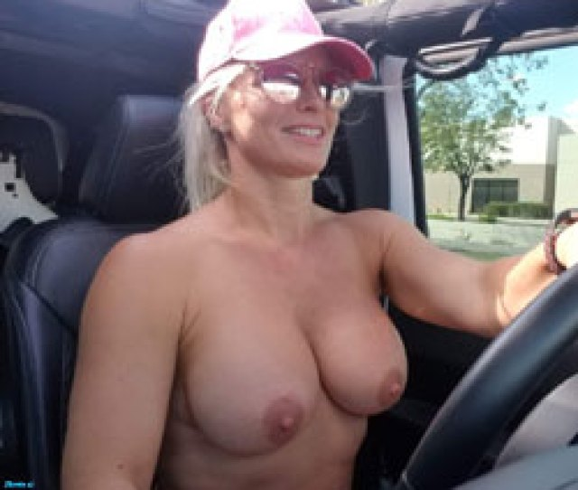 Tops Off Driving Me Crazy Topless Girls Big Tits