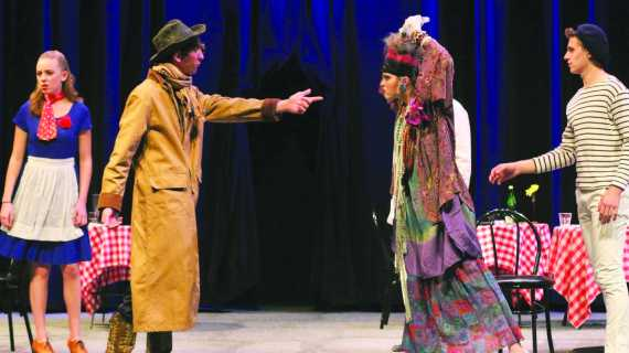 Actors present winter play 'The Madwoman of Chaillot'