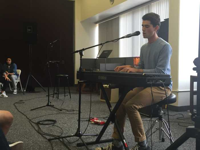 Students perform in the third Coffee House of the year