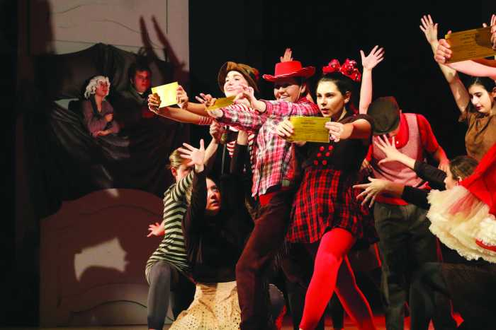 Dancers perform 'Charlie and the Chocolate Factory'