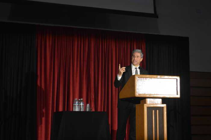 LACMA Director discusses managing museum at Brown Family Assembly