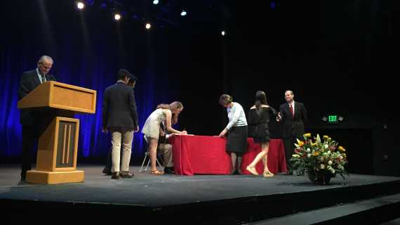 57 seniors inducted into the National Cum Laude Society