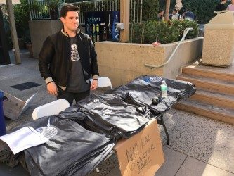 Student's clothing company raises money for hurricane victims