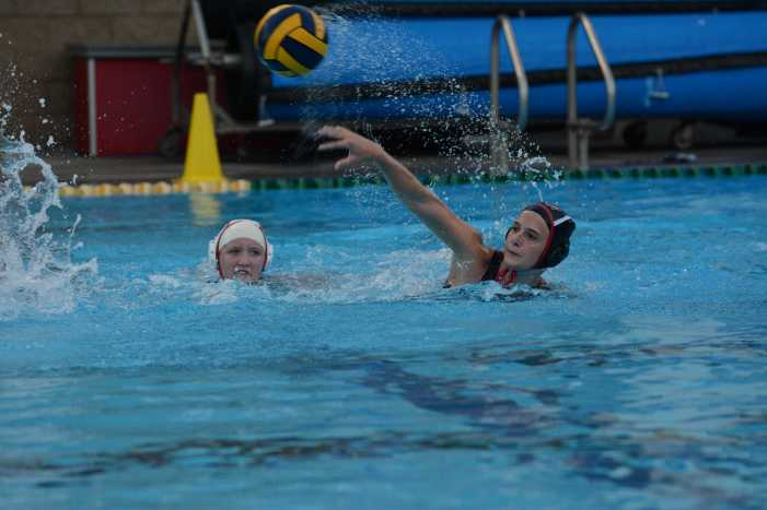 Girls' water polo wins first league game