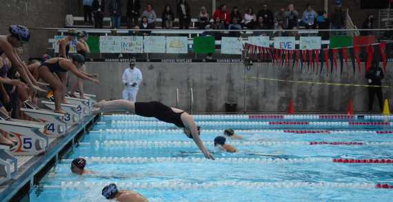 Boys' and Girls' swimming teams compete in honor of Justin Carr '14