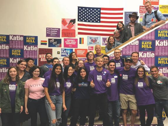 Students intern for midterm candidates