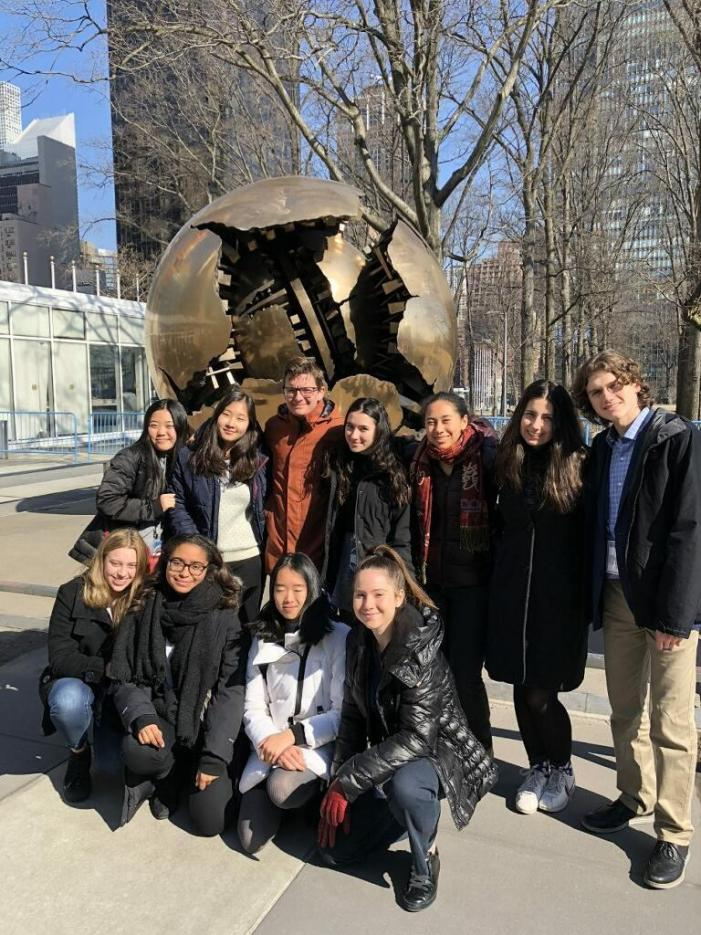 MUN club travels to New York