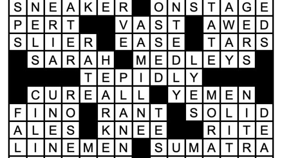 November 2019 Crossword Answers