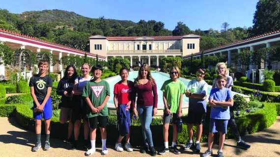 Latin students visit Getty Villa