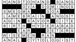 December Crossword Answers