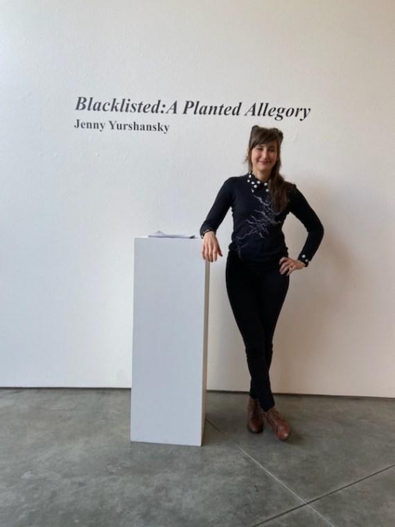 Artist displays work in Feldman-Horn Gallery