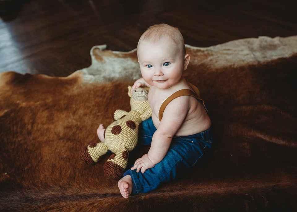 happy baby Centennial baby photographer