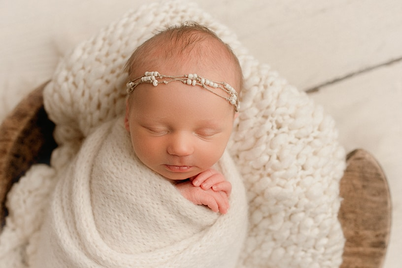 Happy newborn baby Denver photographer
