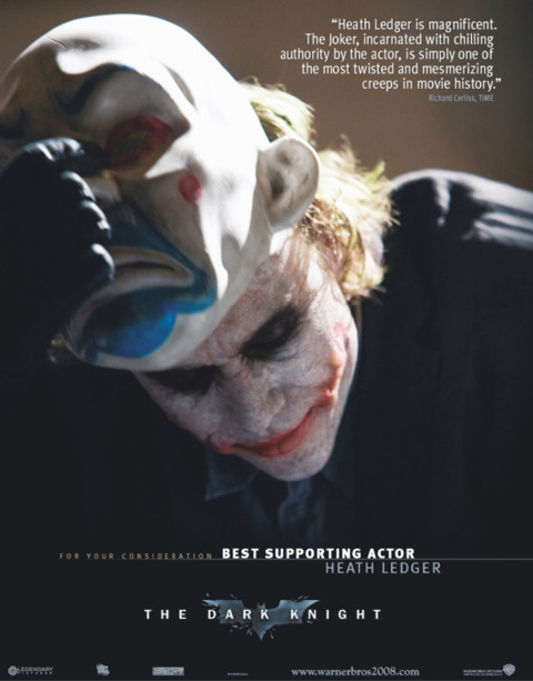 heath ledger joker for your consideration