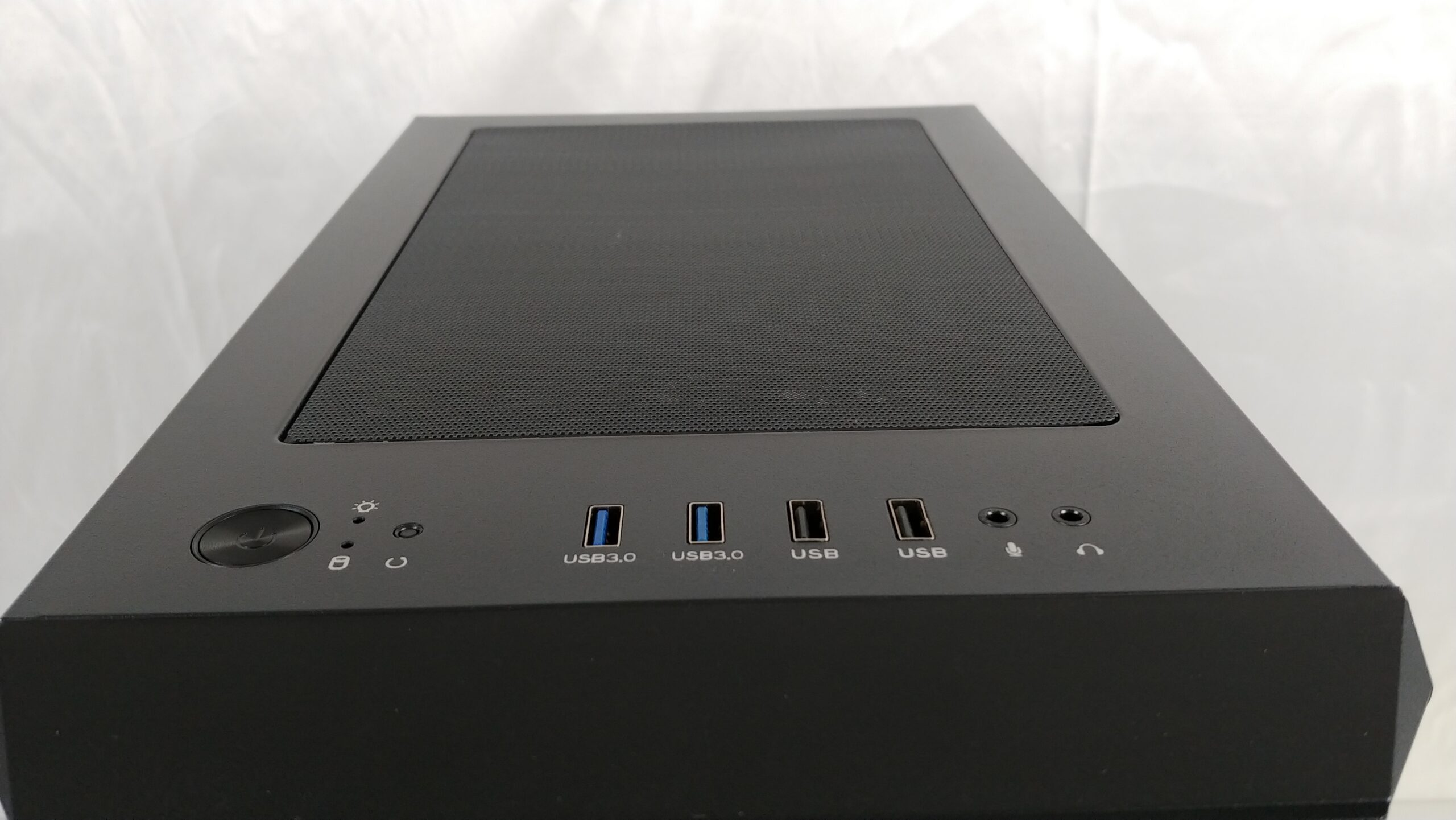 Top view of the FSP CMT260 with I/O panel.