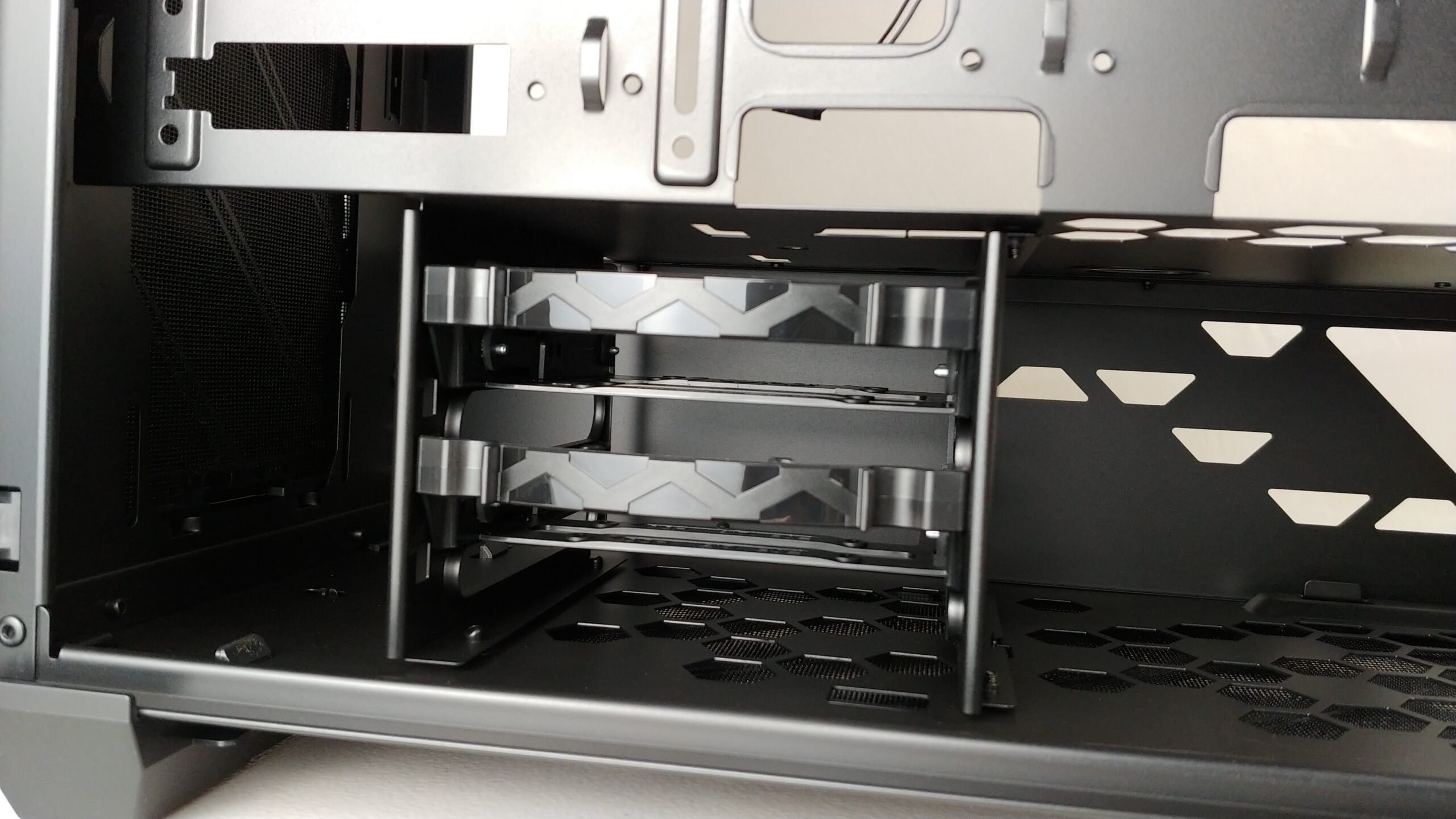 Close view of the 3.5-inch drive bay.