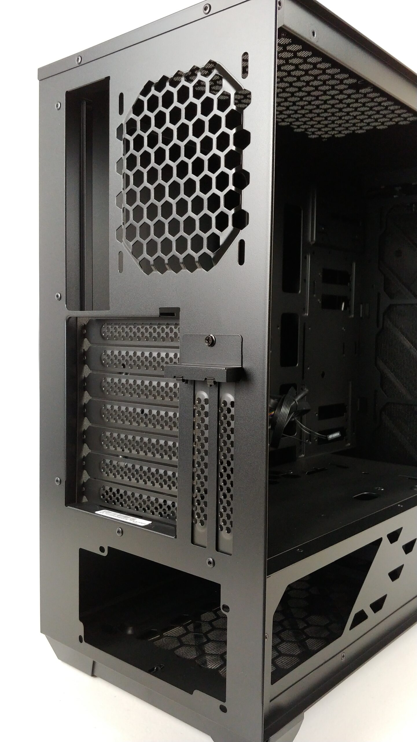 Close up back view of the InWin 216.