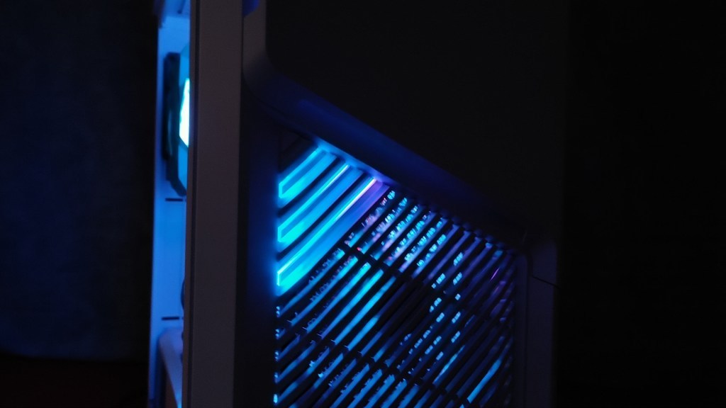 Front panel at night