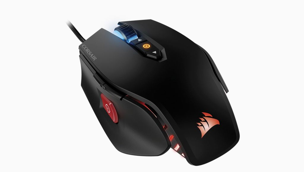 Image of Corsair M65 gaming mouse for comparison to Logitech G502 gaming mouse