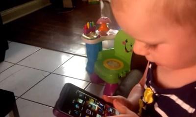 2 yaşındaki çocuk BB10 kullandı
