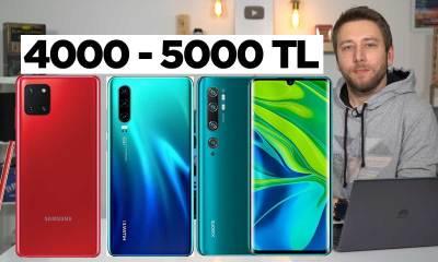 4000 - 5000 TL arası en iyi telefonlar 2020