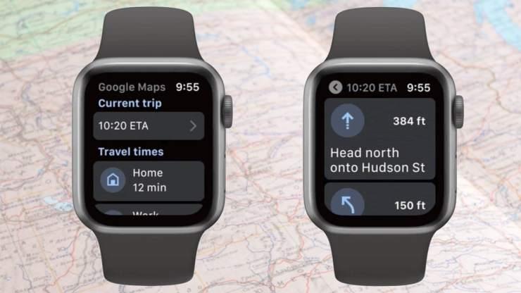 Apple Watch için Google Maps