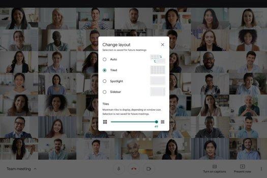 Google Meet, tek görüşmede 49 kişiye kadar gösterebilecek!
