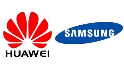 samsung huawei logo