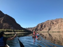 Students canoe down the upper river. Credit: Astor Wu '20 / SPECTRUM