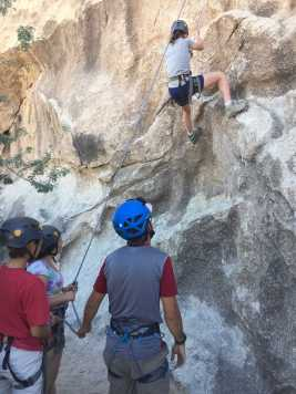 Students learn how to rock climb for one of the activities. Credit: Laura Kors '21 / SPECTRUM