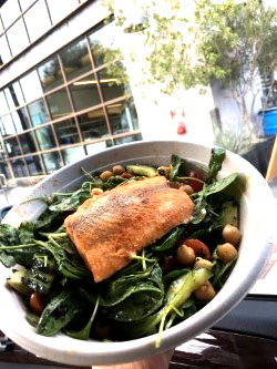 Salmon selection Credit: Caitlin Chung '20/SPECTRUM