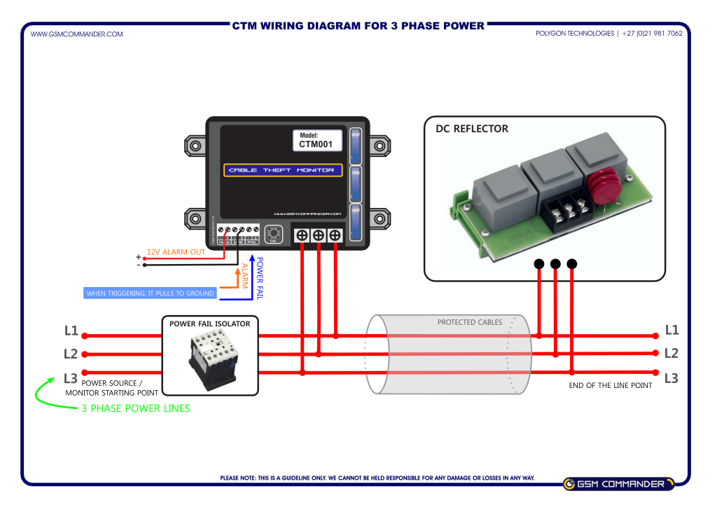 Cable Theft Monitor wiring diagram