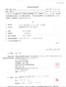 賃貸借契約更新覚書