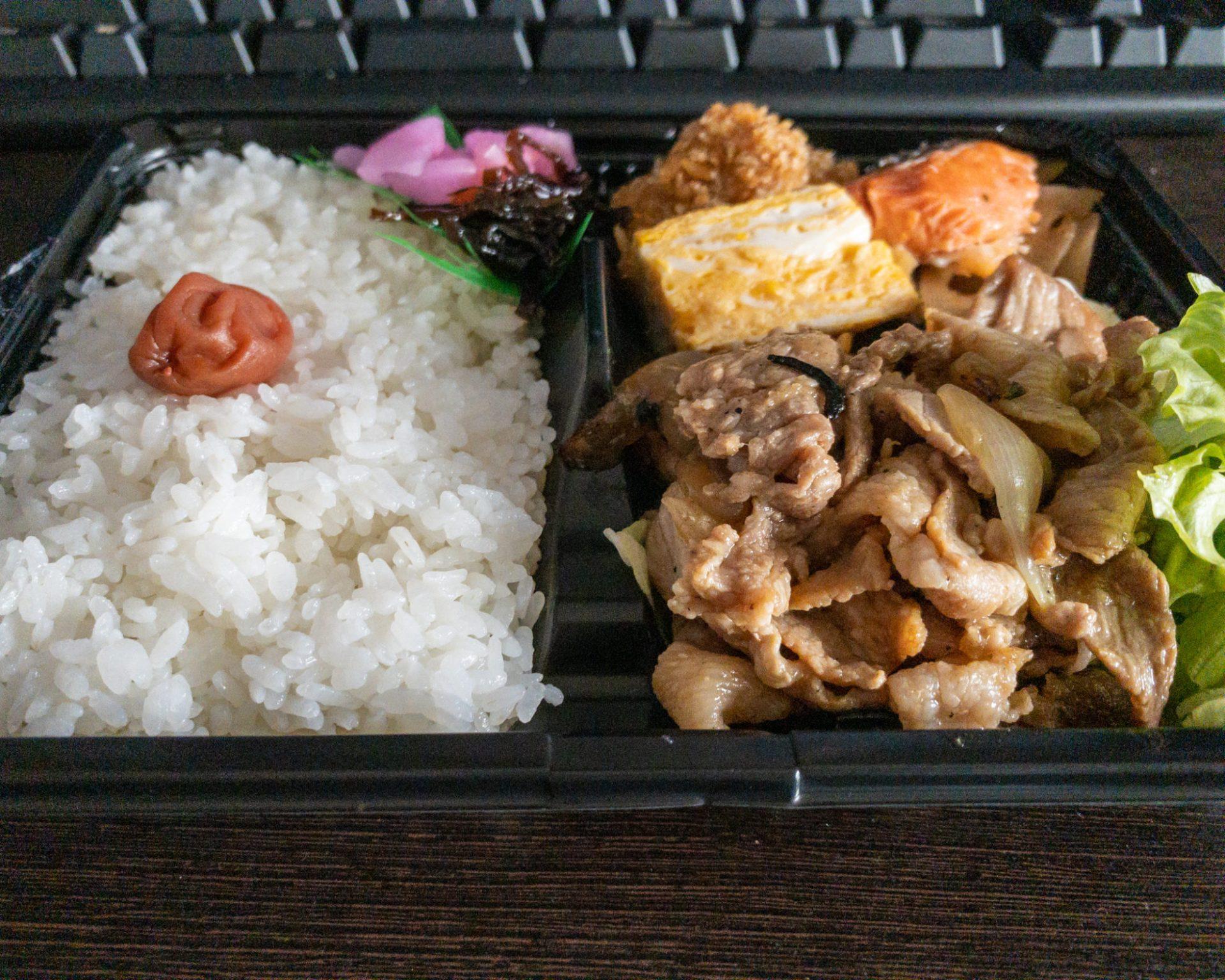 第6食:生姜焼き弁当(16:40)