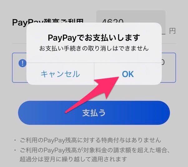 PayPayでお支払いをします