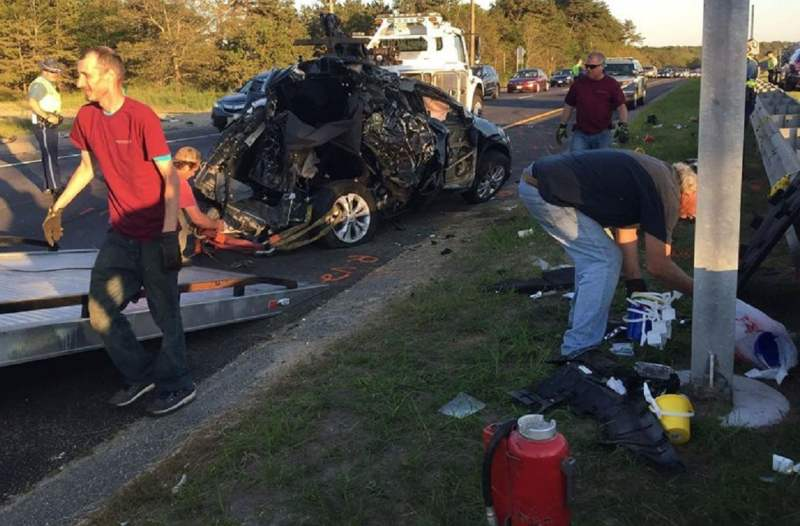 BOURNE CRASH: 61-year-old dead, 15-year-old airlifted with life