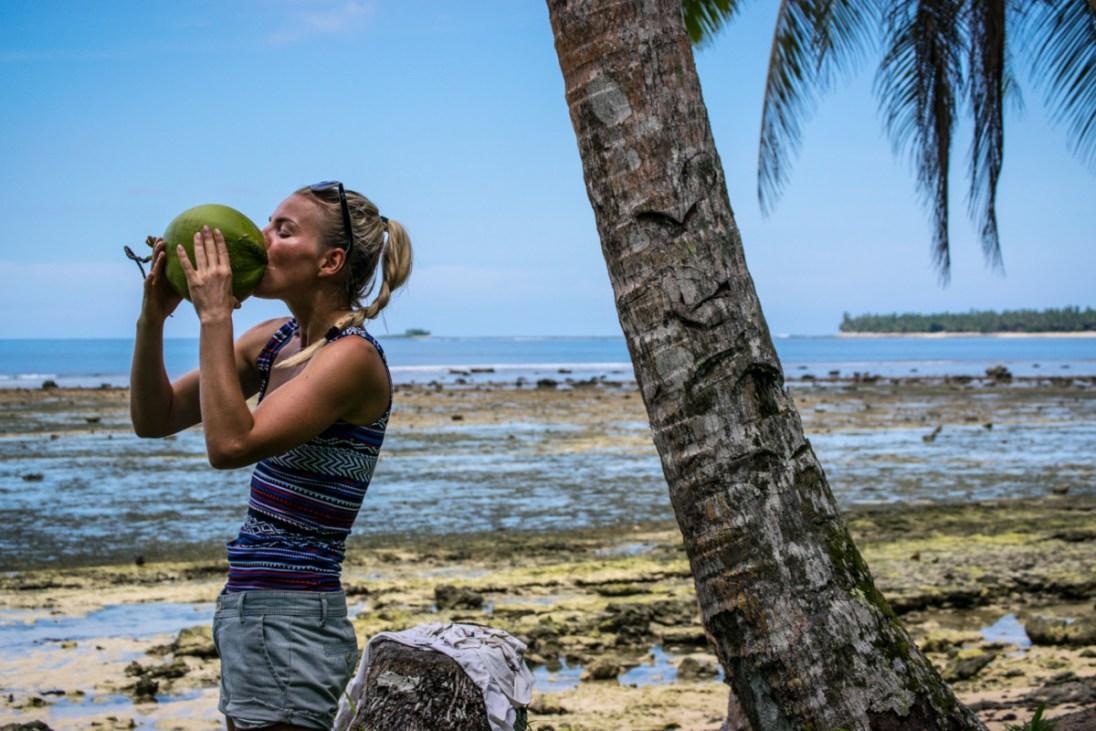 Najčerstvejší kokos priamo zo stromu za Dadkou